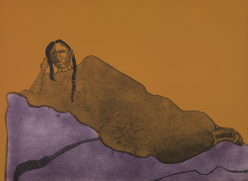 Exhibition details for: Fritz Scholder, Reclining Indian Woman, 1975