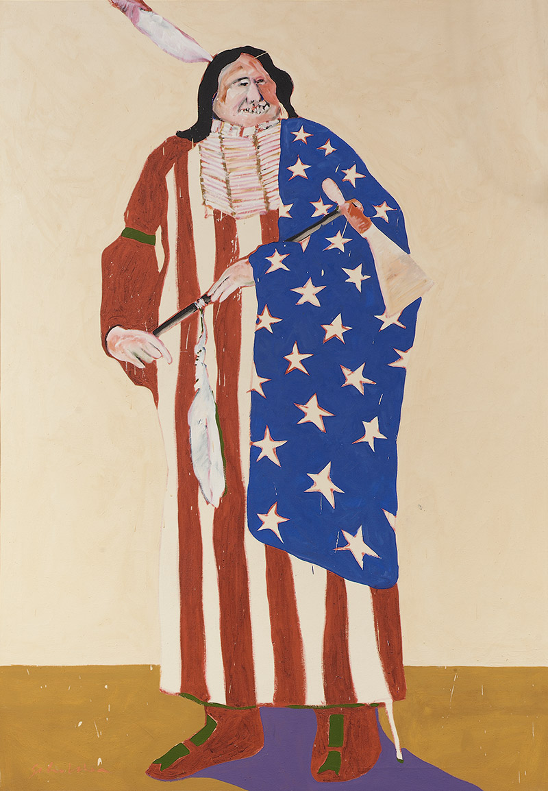 Exhibition details for: Fritz Scholder, The American Indian, 1970